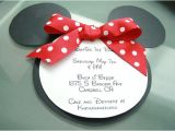 Minnie Mouse Party Invitations Diy Make Your Babys Birthday Party Invitations