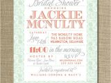 Mint and Coral Bridal Shower Invitations Lace Bridal Shower Invitation Coral orange Pink Pastel