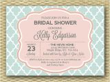 Mint and Coral Bridal Shower Invitations Mint soft Coral Bridal Shower Invitation Mint soft Peach