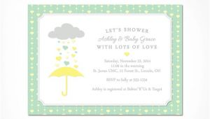 Mint Green and Yellow Baby Shower Invitations Baby Shower Invitation Neutral Printable Gender Neutral