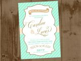 Mint to Be Bridal Shower Invitations Mint Peach and Gold Bridal Shower Printable Invite