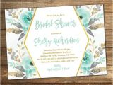 Minted Wedding Shower Invitations Mint Bridal Shower Invitation Bridal Shower Invitation Mint