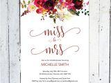 Miss to Mrs Bridal Shower Invitations Bridal Shower Invitation Miss to Mrs Boho Bridal Shower