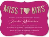 Miss to Mrs Bridal Shower Invitations Miss to Mrs 5×7 Flat Bridal Shower Invitations