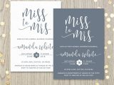 Miss to Mrs Bridal Shower Invitations Miss to Mrs Bridal Shower Invitation