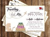 Miss to Mrs Bridal Shower Invitations Novel Concept Designs Miss to Mrs Traveling Bridal