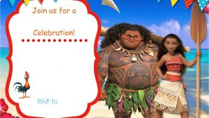 Moana Birthday Invitation Template Free Free Moana Birthday Invitation Template