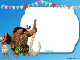 Moana Birthday Invitation Template Free Free Moana Birthday Invitation Template