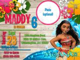 Moana Birthday Invitation Template Moana Birthday Invitations Kustom Kreations