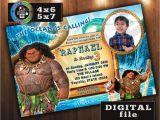 Moana Birthday Invitations Walmart Maui On Disney Moana Birthday Invitation Custom Digital File