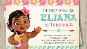 Moana Birthday Invitations Walmart Moana Birthday Invitation Baby Moana Invitation Baby