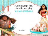 Moana Birthday Party Invitation Template Free Moana Birthday Invitation Template