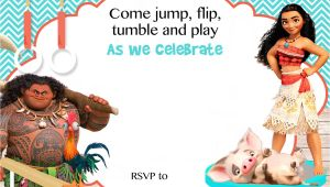 Moana Birthday Party Invitation Template Free Moana Birthday Invitation Template