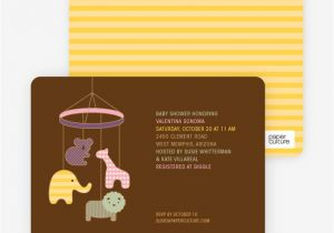 Mobile Baby Shower Invitations Animal Mobile Baby Shower Invitations