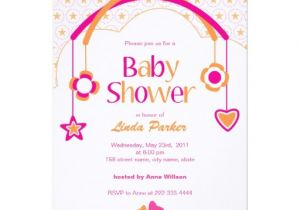 Mobile Baby Shower Invitations Baby Mobile Baby Shower Invitation