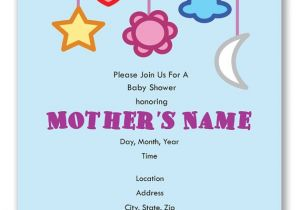 Mobile Baby Shower Invitations Customizable Baby Mobile Baby Shower Invitation Digital