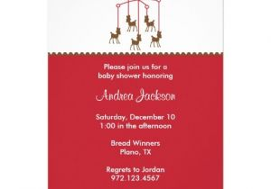 "Mobile Baby Shower Invitations Deer Mobile Baby Shower Invitations 5"" X 7"" Invitation"