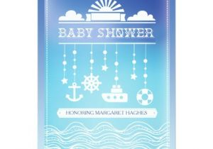Mobile Baby Shower Invitations Nautical Mobile Baby Shower Invitation