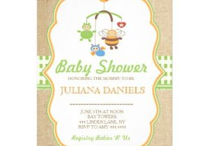 Mobile Baby Shower Invitations Rustic Chic Neutral Baby Shower Mobile Invitations