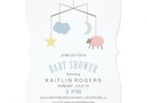 Mobile Baby Shower Invitations Sleepy Crib Mobile Baby Shower Invitation