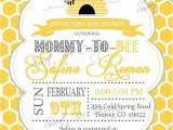 Mommy to Bee Baby Shower Invitations Bee Baby Shower Invitation Mommy to Bee