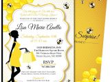 Mommy to Bee Baby Shower Invitations Mommy to Bee Baby Shower Invitations – Blackline