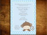 Monkey Baby Shower Invitations for Boys Baby Boy Monkey Baby Shower Invitations 20 5×7