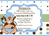 Monkey Baby Shower Invitations for Boys Little Monkey Boy Baby Shower Invitation
