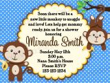 Monkey Baby Shower Invitations for Boys Monkey Baby Shower Invitation Boy and Girl Options Print Your