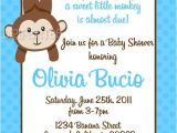Monkey Baby Shower Invitations for Boys Monkey Baby Shower Invitations for Boy