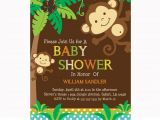 Monkey Baby Shower Invitations for Boys Personalized Jungle Monkeys Baby Shower Printable Diy