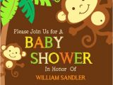 Monkey Baby Shower Invitations Templates Free Free Printable Monkey Baby Shower Invitations