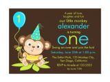 Monkey Invites First Birthday Cute Little Monkey First Birthday Invitation Zazzle