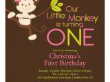 Monkey Invites First Birthday Cute Modern Monkey 1st Birthday Party Invitations 5 25
