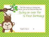 Monkey Invites First Birthday Free Printable 1st Monkey Birthday Invitation Free