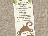Monkey themed Baby Shower Invitations Printable Monkey theme Baby Shower Invitation