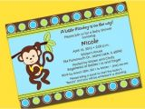 Monkey themed Baby Shower Invitations Printable Monkey theme Personalized Baby Shower Invitations