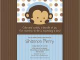 Monkey themed Baby Shower Invitations Printable Monkey themed Baby Shower Invitations