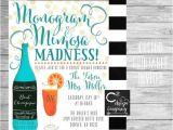 Monogram and Mimosa Bridal Shower Invitations Monogram & Mimosa Madness Bridal Shower Invitation