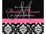 Monogram Bridal Shower Invitations Bridal Shower Monogram Damask Invitations Pink 13 Cm X 13