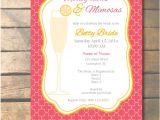 Monogram Bridal Shower Invitations Monograms and Mimosas Wedding Shower Invitations by
