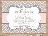 Monogram Bridal Shower Invitations Pink and Gray Chevron Monogram Bridal Shower Invitation Pink
