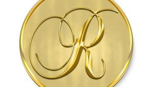 Monogram Seals for Wedding Invitations Gold Monogram R Seal Wedding Invitation Holiday Zazzle Ca