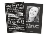 Monogrammed Graduation Invitations Black and White Personalized Graduation Announcement