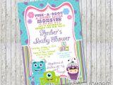 Monster Inc Baby Shower Invites Girl Monsters Inc Inspired Baby Shower Invitation