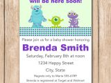 Monster Inc Baby Shower Invites Mini Monsters Inc Baby Shower Invitation by