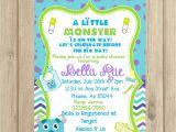 Monster Inc Baby Shower Invites Monsters Inc Baby Shower Invitation Diy by Poppypaper Pany