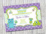 Monster Inc Baby Shower Invites Monsters Inc Inspired Baby Shower Invitation 4×6 by