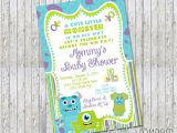 Monster Inc Baby Shower Invites Monsters Inc Inspired Baby Shower Invitation by Rockinrompers
