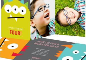 Monster theme Party Invitations Kid 39 S Monster Birthday Party Pear Tree Blog